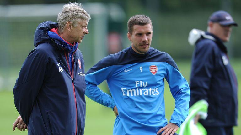 Podolski played under Wenger from 2012 to 2015