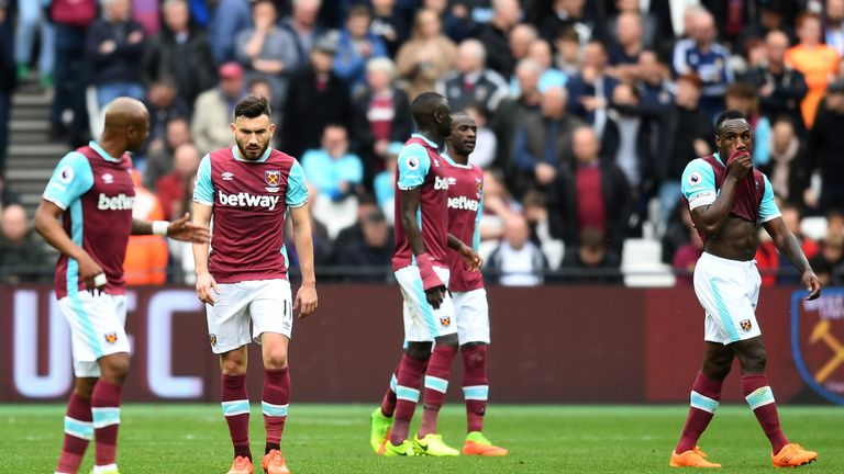 West Ham are winless in their last five Premier League outings