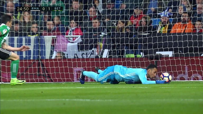 Navas' own goal gave Real Betis the lead at the Bernabeu