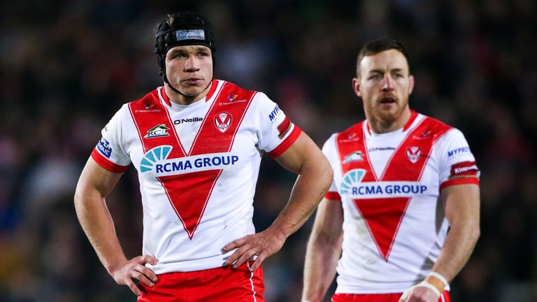 St Helens full-back Jonny Lomax notched a try in the very first minute