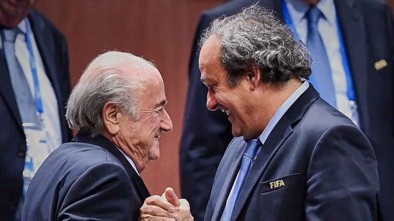 Sepp Blatter and Michel Platini are both banned from football