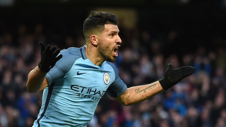 Sergio Aguero has scored in his last three Premier League matches