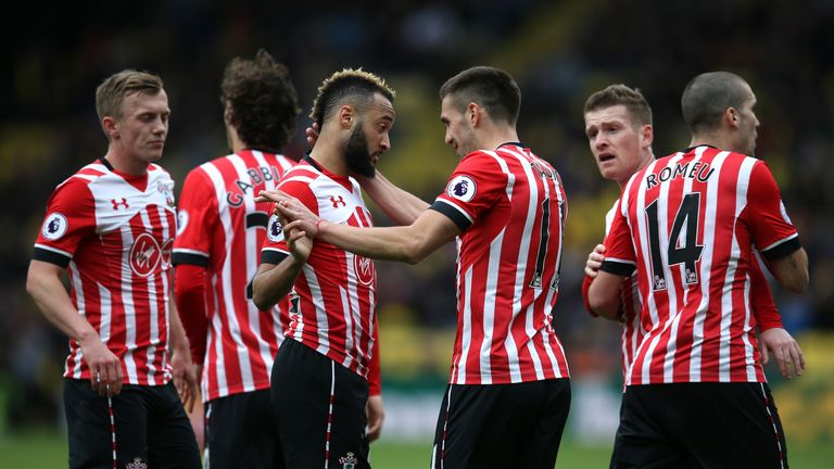 Nathan Redmond (L) and Dusan Tadic were both on the scoresheet for Southampton