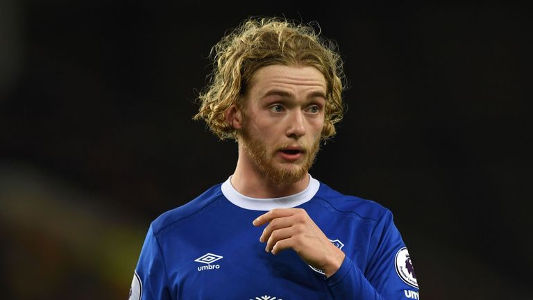 Everton's Tom Davies was born after Barry's debut