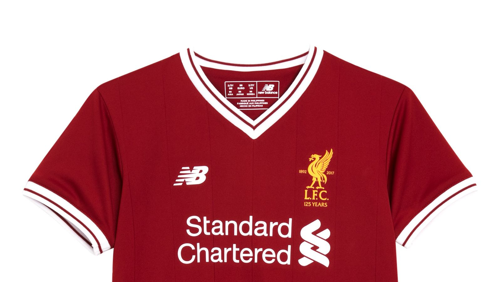 77a0e98fc75 Liverpool unveil new home kit for 125th anniversary season ...