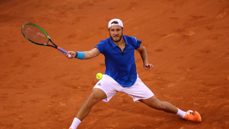 Lucas Pouille helped France defeat Great Britain during their  Davis Cup tie in April