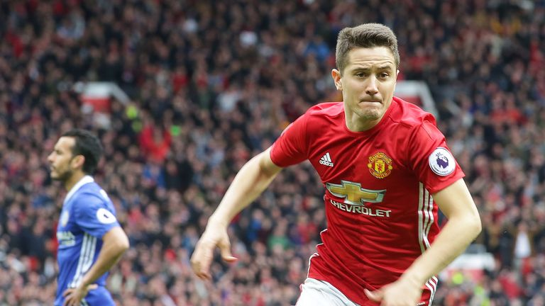Ander Herrera appeared to pick up an injury during the match