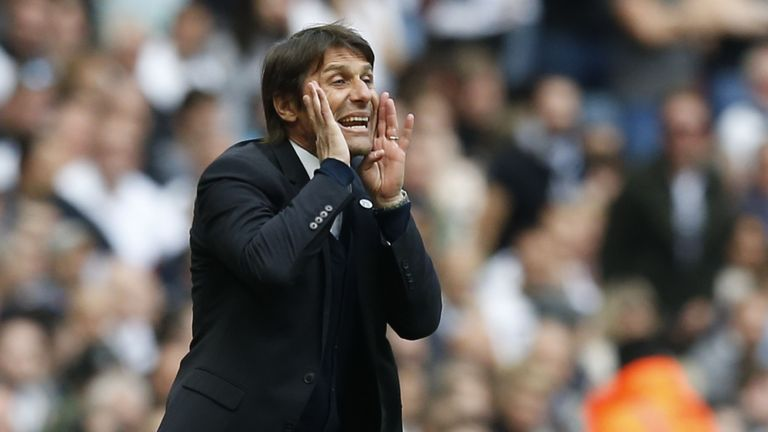 Antonio Conte believes Spurs have a small advantage in the title race