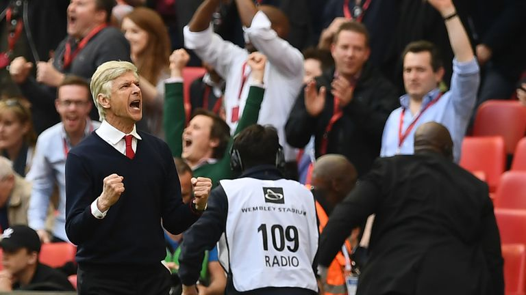 Wenger has seen Arsenal win their last three games using the 3-4-3 system
