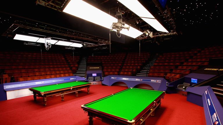 There will be no spectators in attendance at the Crucible Theatre from Saturday
