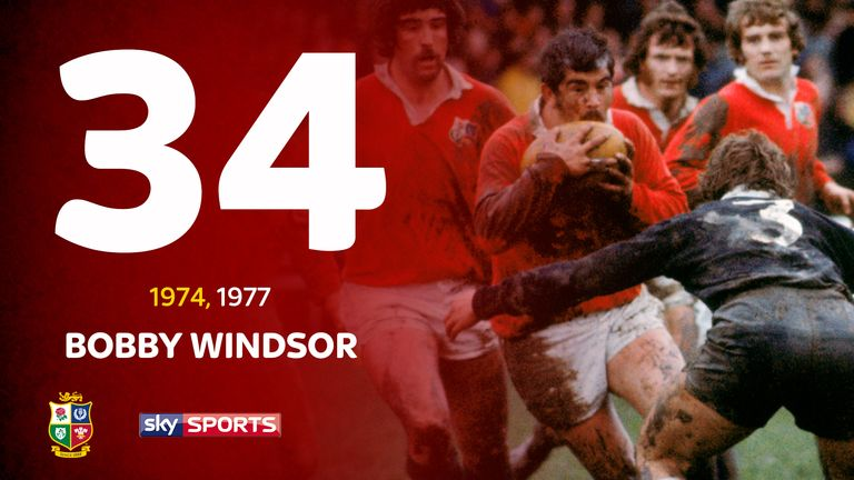 Bobby Windsor was instrumental as the Lions claimed a series win in South Africa in 1974
