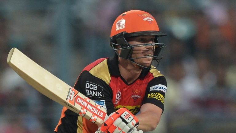 Sunrisers Hyderabad captain David Warner smashed 35 before his side collapsed to defeat
