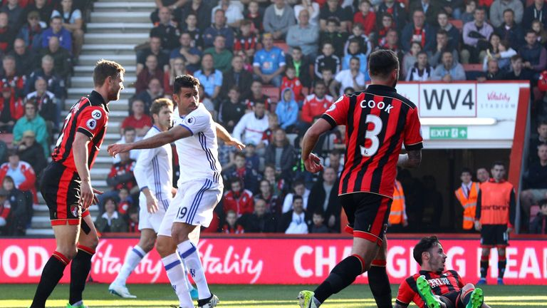 Diego Costa's shot was turned home by Adam Smith for Chelsea's opener