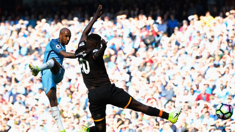 Fabian Delph scored Manchester City's third goal against Hull