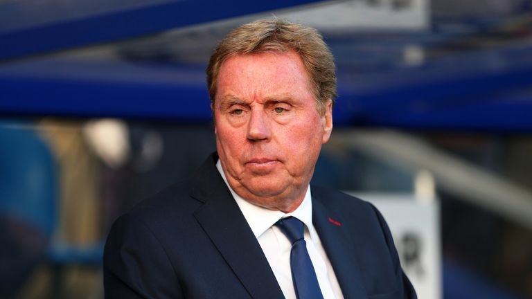 Harry Redknapp prior to the Premier League match between Queens Park Rangers and Leicester City in 2014