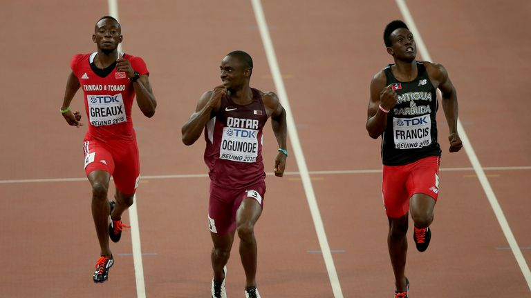 Miguel Francis (right) of Antigua and Barbuda to join GB athletics team