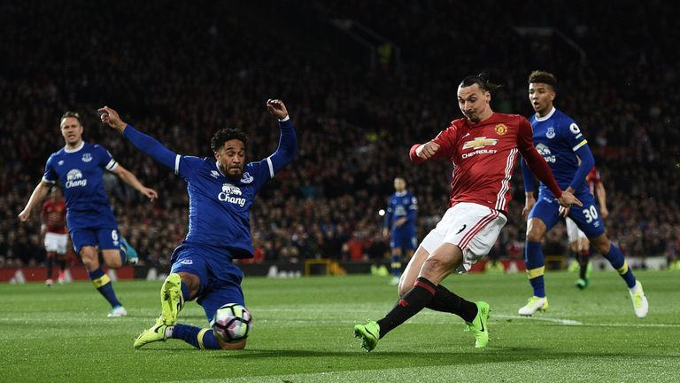 Zlatan Ibrahimovic went close in the first half for United