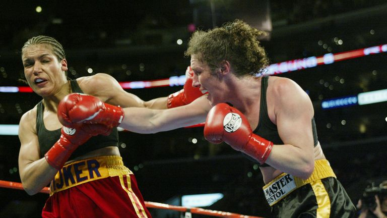 Couch fought legendary female fighter Lucia Rijker at Los Angeles' Staples Center in 2003