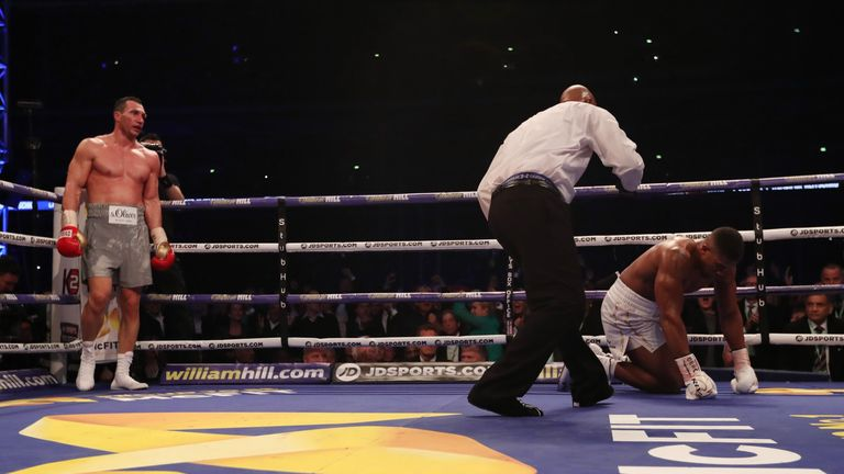 Joshua climbed off the canvas in the sixth round at Wembley Stadium