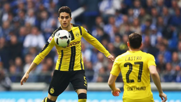 Borussia Dortmund's Spanish defender Marc Bartra is recovering in hospital after his operation