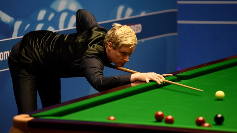 Neil Robertson began his quest for a hat-trick of titles in York with victory against veteran Ken Doherty