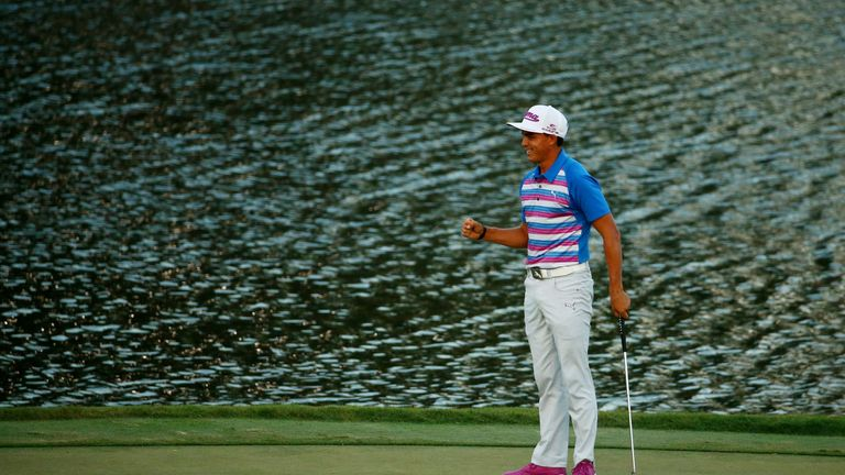 Rickie Fowler famously birdied the 17th three times on the final day in 2015