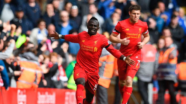 Sadio Mane opened the scoring for Liverpool but was later forced off injured