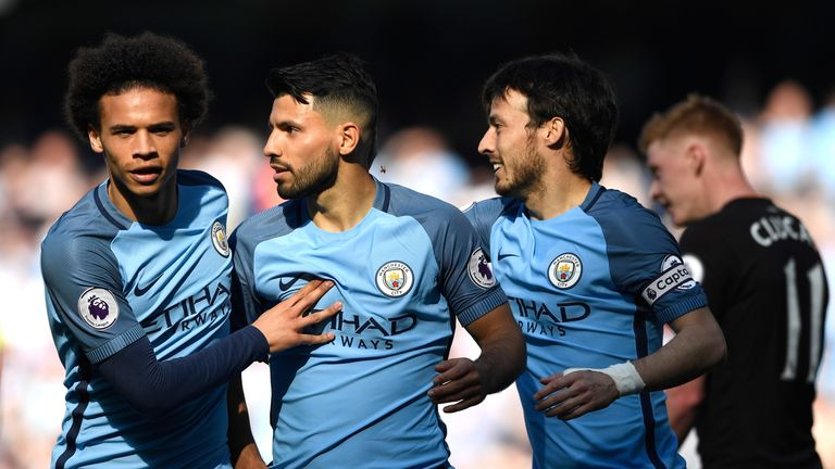 Sergio Aguero was lively for Manchester City