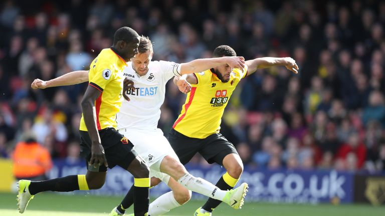 Gylfi Sigurdsson had numerous chances to bring Swansea back into the game