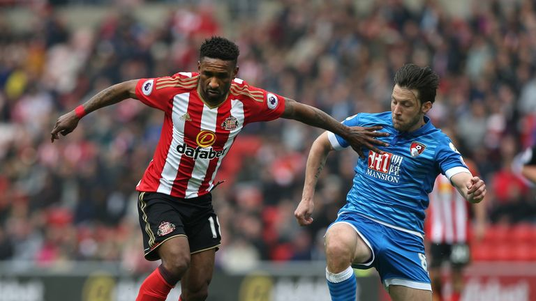 Harry in action for Bournemouth against Sunderland