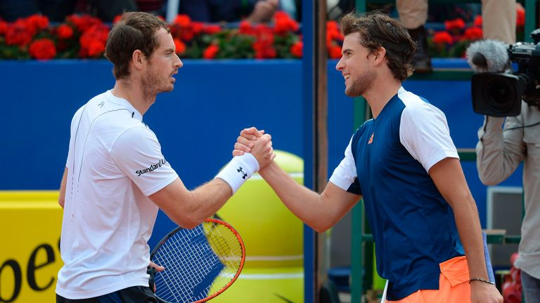 Dominic Thiem beat Britain's Andy Murray at the 2017 Barcelona Open