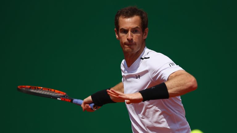 Murray returned to action following an elbow injury