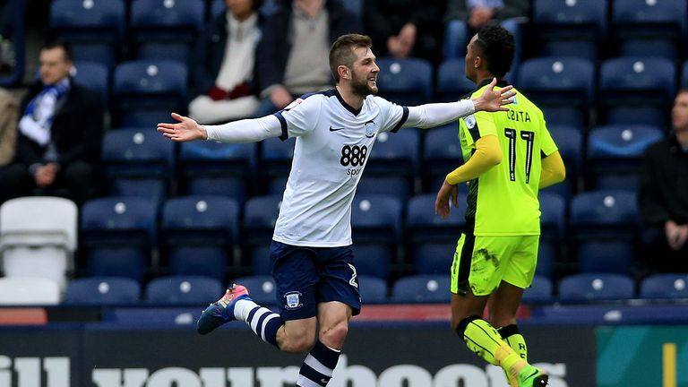 Preston's Tom Barkhuizen is among the nominees for March goal of the month
