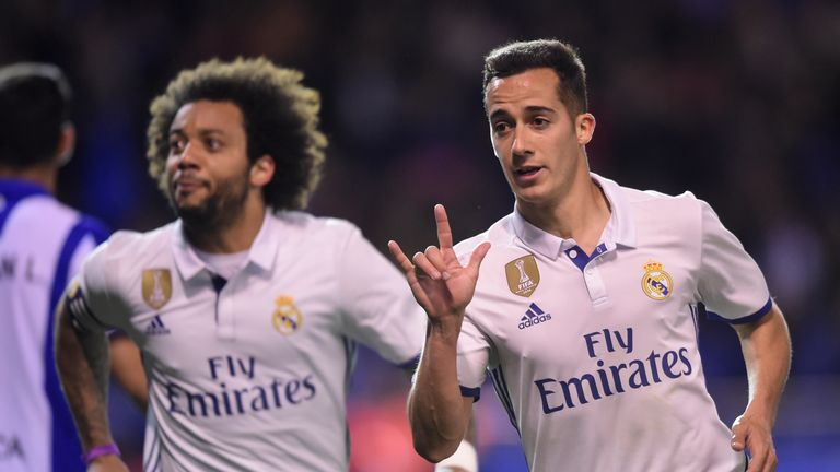 Lucas Vazquez (right) scored Real's third goal