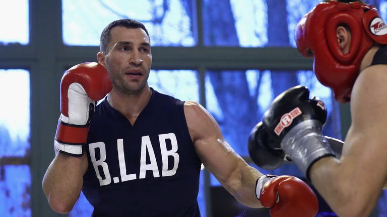 Wladimir Klitschko is putting the finishing touches on his training ahead of his clash with Anthony Joshua