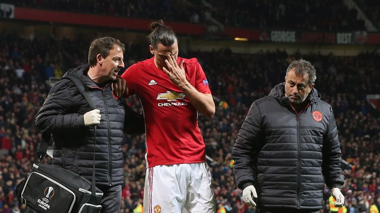 Zlatan Ibrahimovic has been ruled out until the end of the season