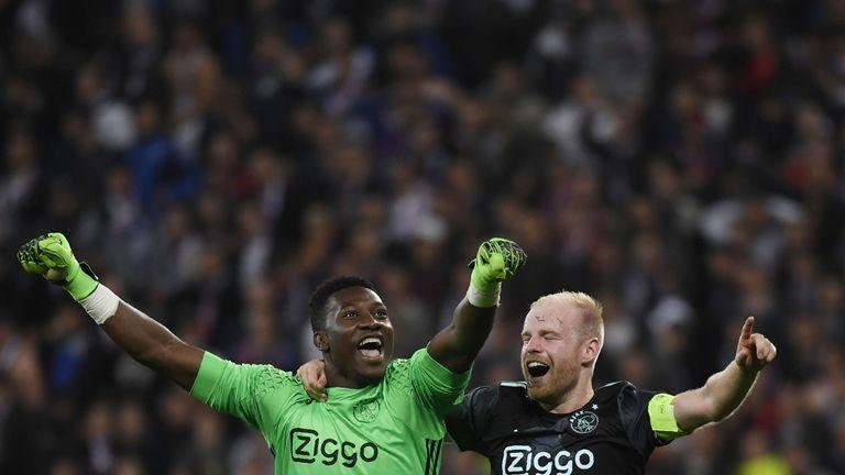 Klaassen (right) captained Ajax to the Europa League final last season
