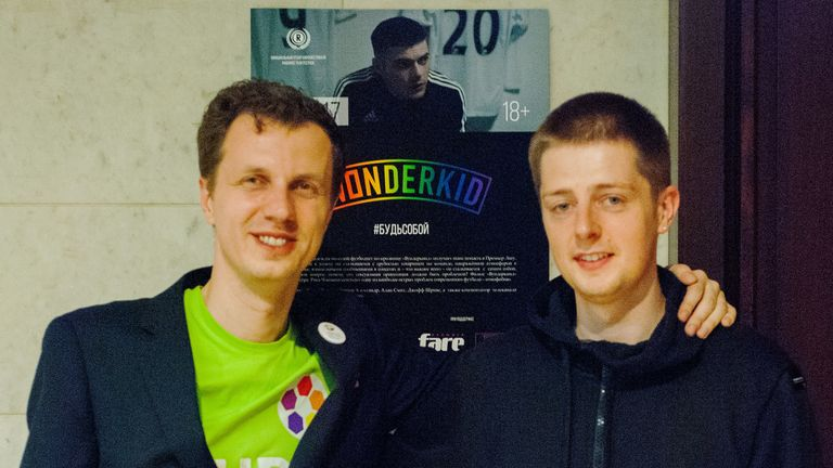 Agapov with Chapman after the Moscow screening of WONDERKID