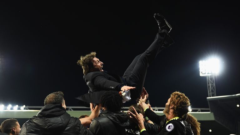 Conte led Chelsea to the Premier League title in his first season in charge of the Blues