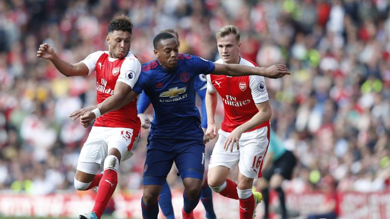 Manchester United will host Arsenal at Old Trafford at the end of April