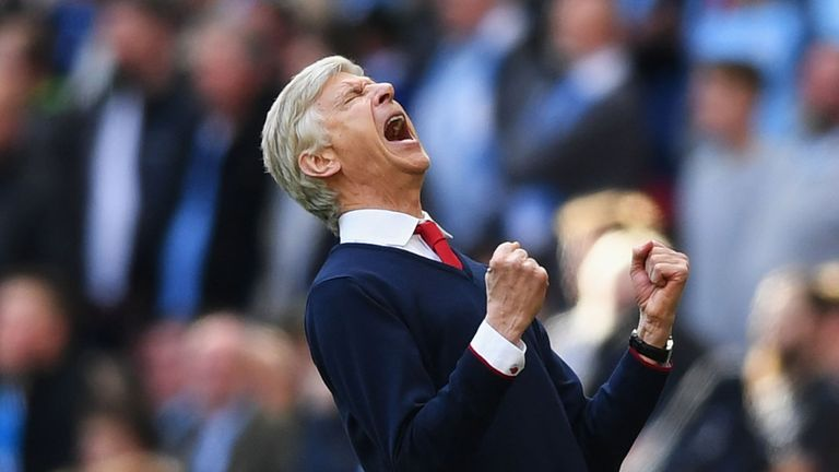 Arsene Wenger's Arsenal beat Chelsea in the FA Cup final in May