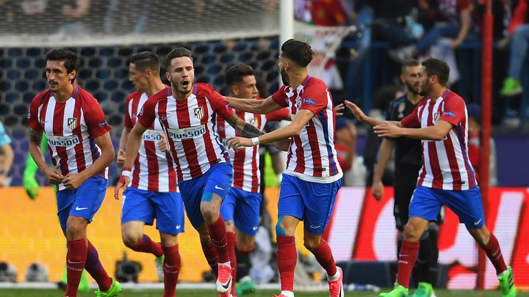 Saul Niguez gave Atletico Madrid hope with a powerful header early on