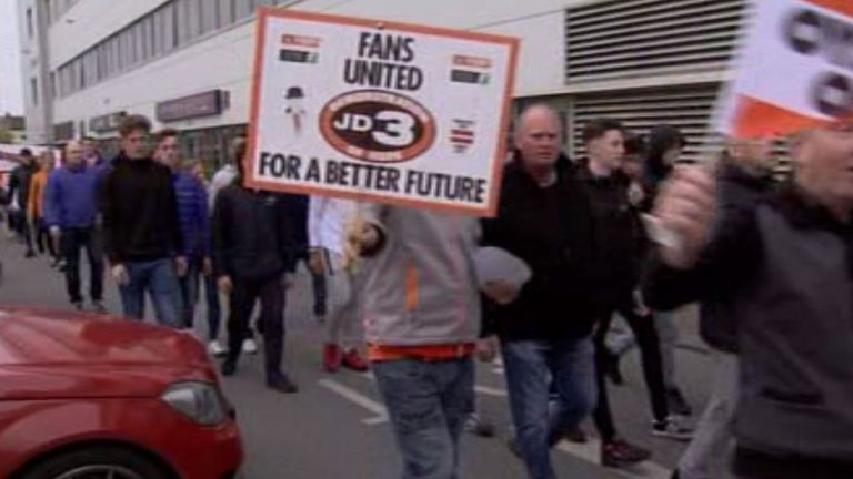 Orient and Blackpool fans chanted and shouted outside the stadium