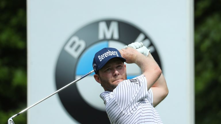 Branden Grace came to grief in a ditch at the 12th