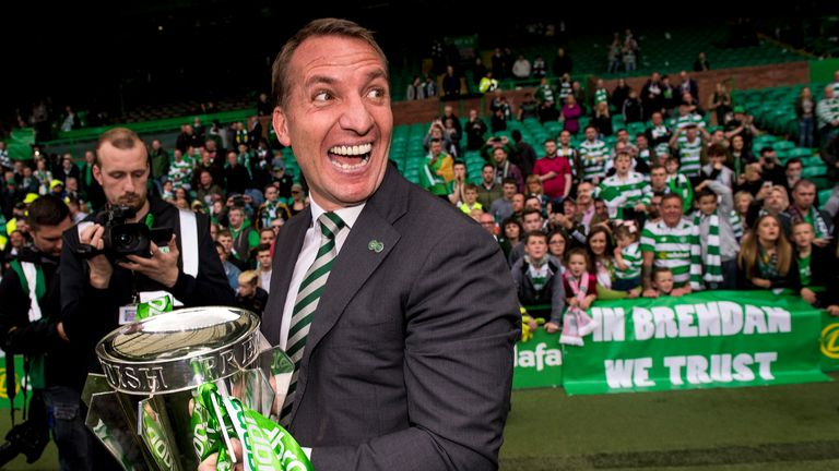 Brendan Rodgers enjoyed a superb first season at Celtic, winning the Scottish Premiership, Scottish Cup and Scottish League Cup