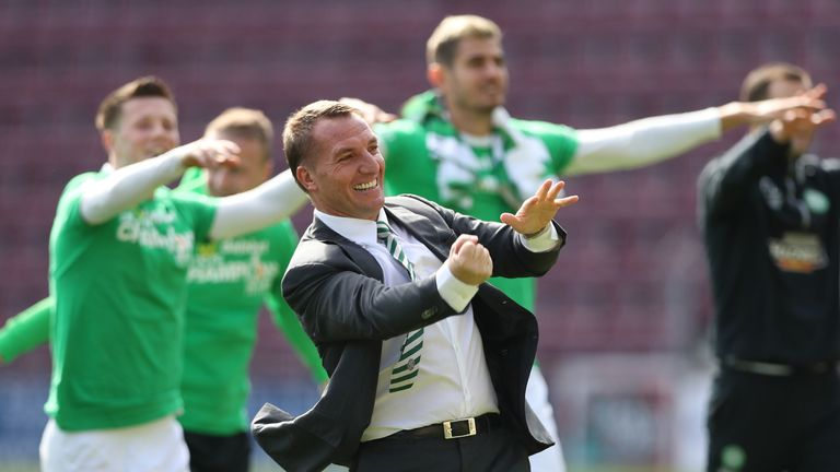 Rodgers won the treble with Celtic in his first season in charge
