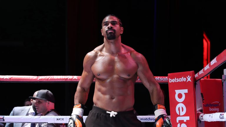 Haye displayed a muscular physique in the first fight