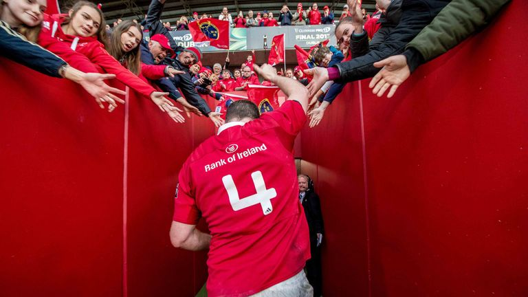 Ryan left Munster after 13 years of service and 167 appearances