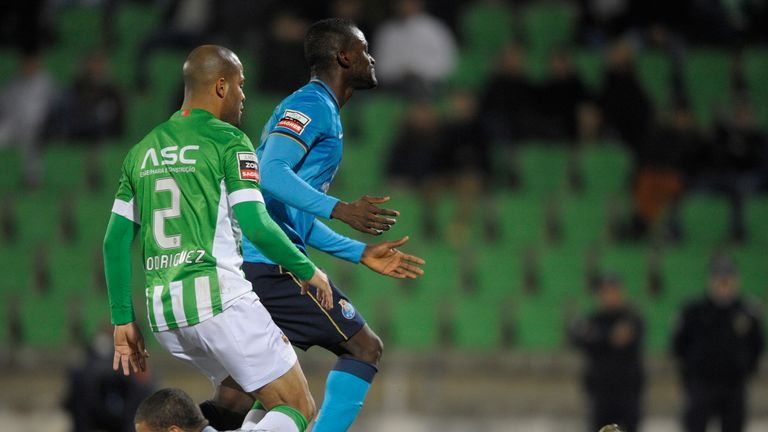 Ederson in action for Rio Ave against Porto in 2013