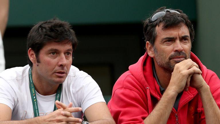 Sebastien Grosjean (L) was previously part of Richard Gasquet's coaching set-up
